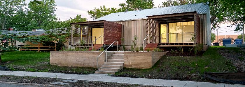 Бюджетный дом на металлическом каркасе