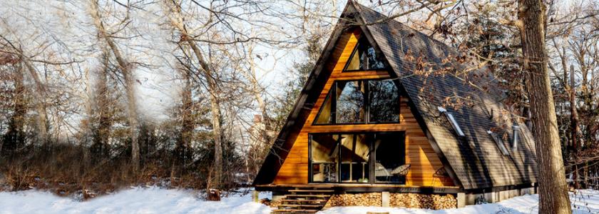 Дом-шалаш для большой семьи