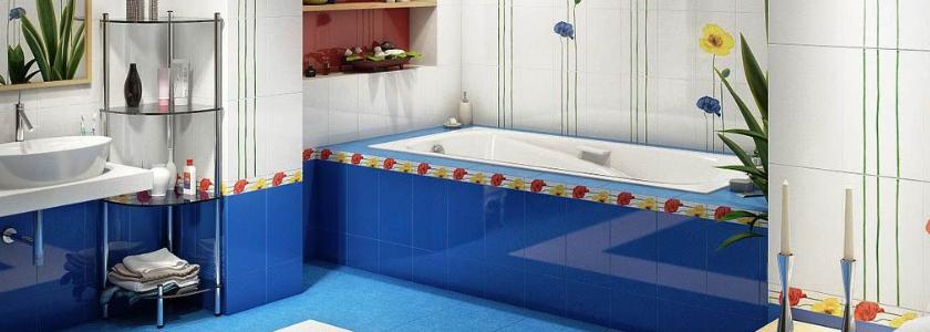 Клеим плитку в ванной комнате