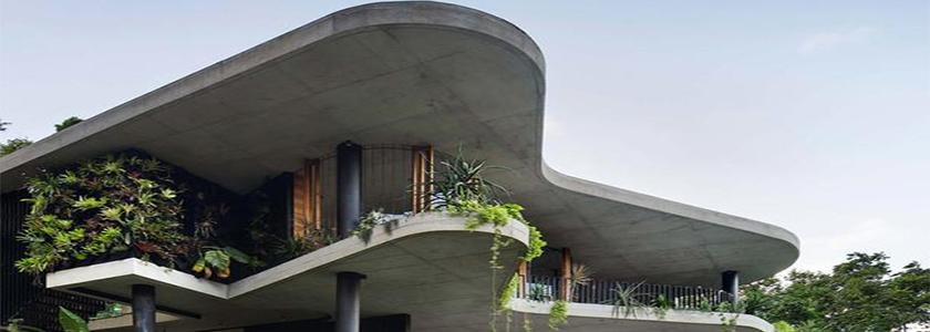 Монолитный скульптурный дом