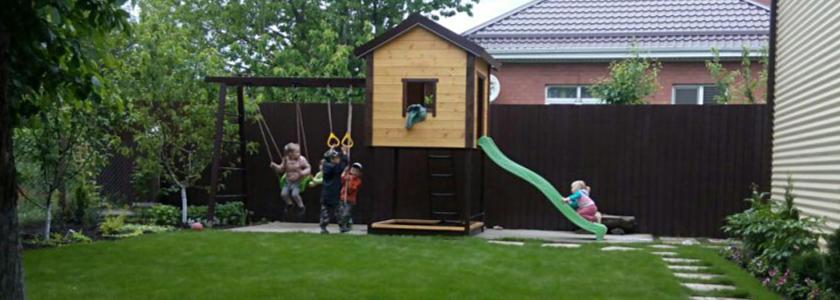 Детские игровые и спортивные площадки: оригинальные конструкции своими руками