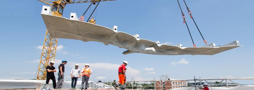 Облегченное бетонное перекрытие по 3D технологии