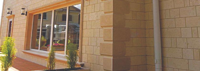 Керамзитовый стеновой блок с декоративным фасадом – характеристики и особенности