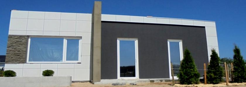 Экономичное строительство: стильный одноэтажник с плоской кровлей