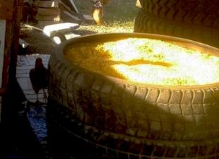 Зернохранилище из автопокрышек: дешевле только даром