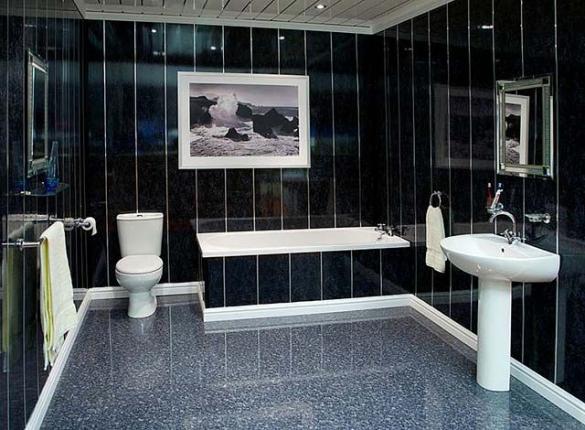 ванная комната деревянный дом отделка панелям