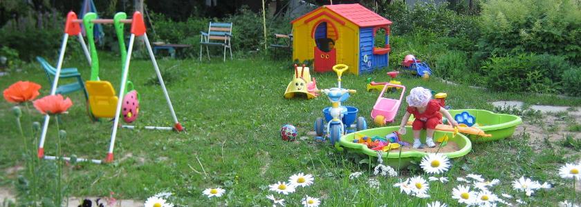 Планирование детской площадки на даче