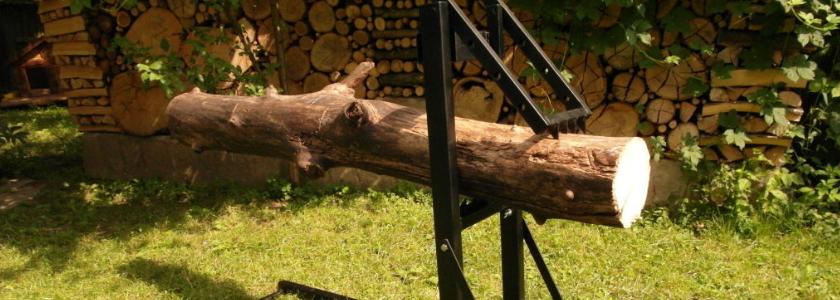 Самодельные козлы для распиливания дров и дровокол: чертежи, конструктив, опыт использования
