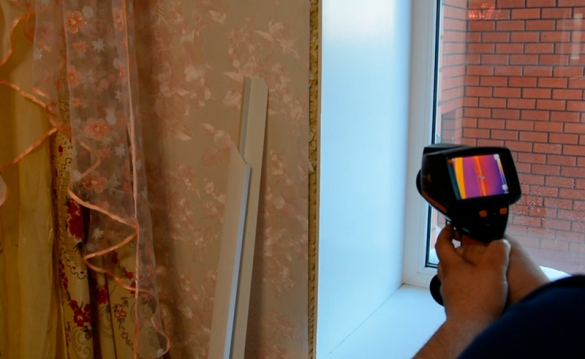 Фото теплопотери через негерметичный оконный блок