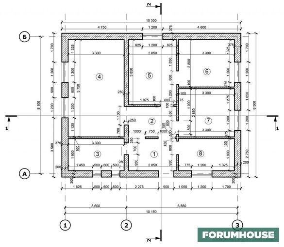 Самостоятельное строительство энергоэффективного одноэтажного дома из газобетона