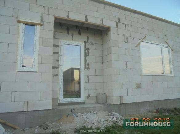 Фото установленные окна и дверь