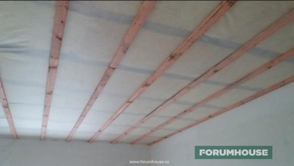 Фото утепление потолка каменной ватой