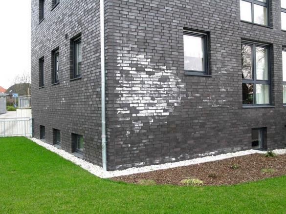 Фото высолы на кирпичном фасаде