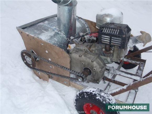Как собрать снегоуборщик