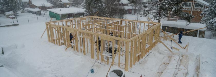 Холодный расчет: особенности строительства в морозы и снегопады