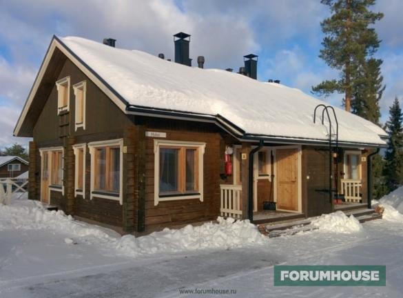 Фото деревянный дом зимой