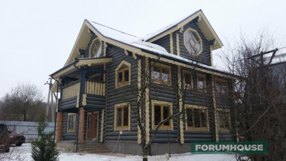 Фото дом из бревна ручной рубки