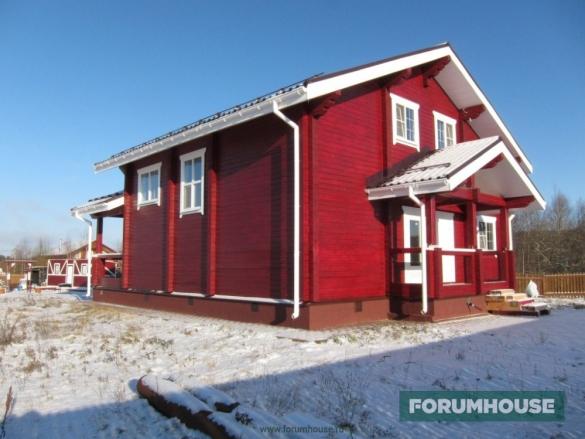 Фото дом из профилированного бруса