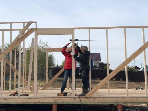 строительная бригада каркасных домов
