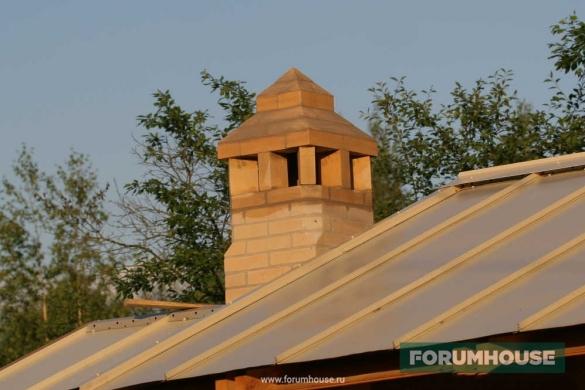 Фото труба печного комплекса на крыше