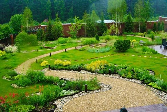Фото красивый ландшафтный дизайн дачного участка