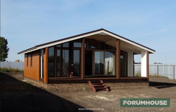 Фото модульный дом-студия с террасой