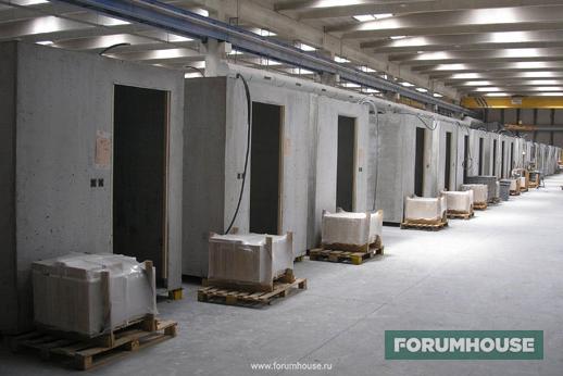 Фото железобетонные модули на производстве