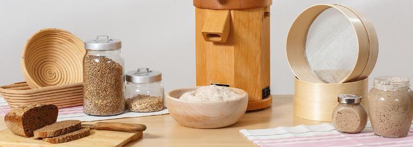 Мельница-самодельница, или как печь дома хлеб из цельнозерновой муки