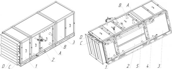 Порядок соединения секций и трубок возврата воздуха