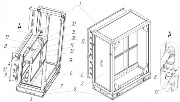 Конструктивная схема клапан-фильтровального блока
