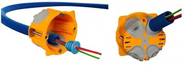 Фото усовершенствованные герметичные подрозетники с кабелем
