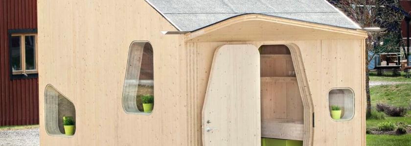 Бюджетный дом из деревянных панелей