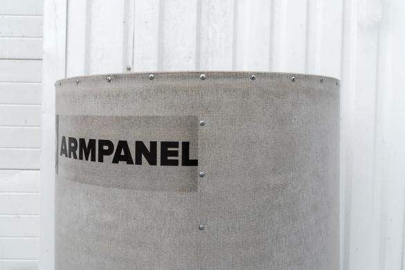 Фото цементно-перлитовая панель на каркасе выгнутой формы