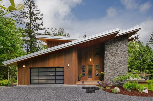Фото односкатная крыша в двух уровнях на одноэтажном доме