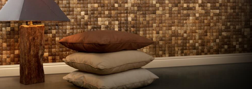 Кокосовая мозаика: теплые и уютные поверхности