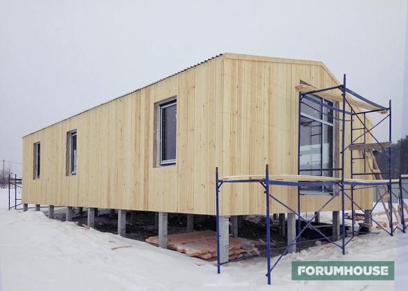 Как я построил BarnHouse. Часть 2. Возводим свайный фундамент
