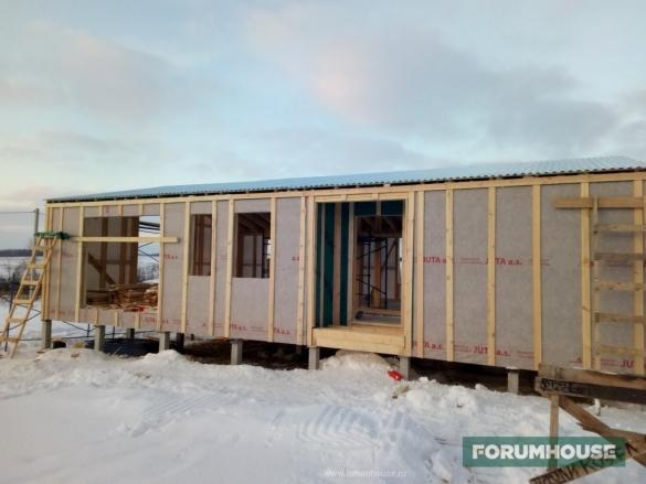 Как я построил BarnHouse. Часть 4. Монтаж кровельного покрытия и деревянного фасада. Утепление