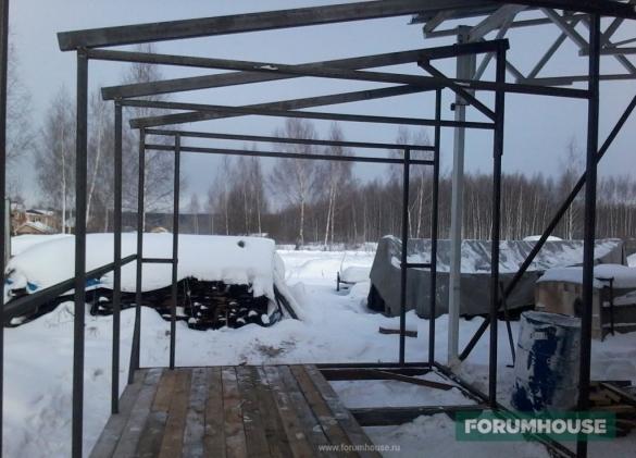 Моя мастерская на металлокаркасе: построил за 200 тыс. руб. и не жалею
