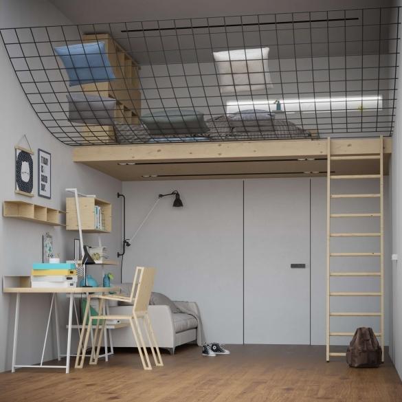 внутренняя отделка гипсокартоном, дизайн комнаты, интерьер, КНАУФ