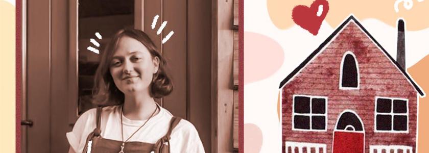 В Англии девушка сама построила миниатюрный дом из дерева