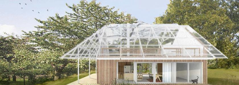 В Чехии построили дом с теплицей на крыше