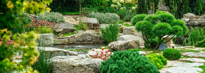 Камни в ландшафтном дизайне: рукотворная красота