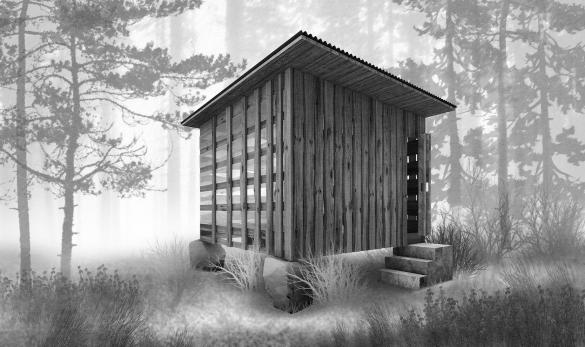 Фото проект-победитель в конкурсе Дом отшельника