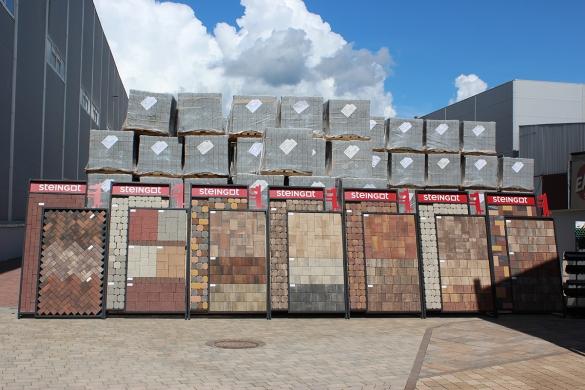 Фото ассортимент вибропрессованной плитки Steingot