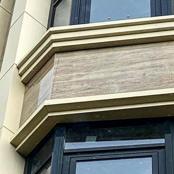 навесные фасады из окрашенного каленого стекла – триплекса